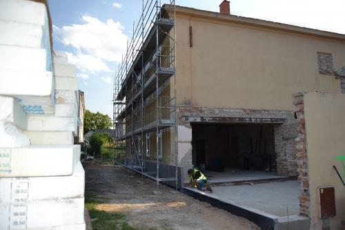 Přestavba budovy MŠ Slepotice duben - říjen 2018